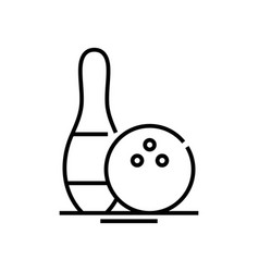 bowling line icon concept sign outline vector image