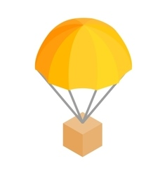 Box parachute 3d isometric icon vector