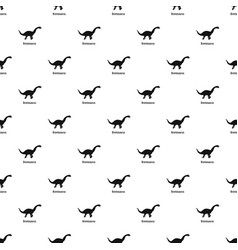 Brontosaurus pattern seamless vector
