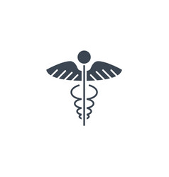 caduceus related glyph icon vector image