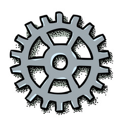 Cartoon image of gear icon flat vector