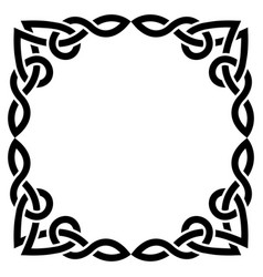 celtic square greeteing card design irish vector image