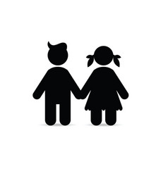 children icon holding hands vector image
