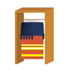 coat rack with industrial safety uniforms vector image