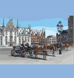 colorful hand drawing holland 6 vector image