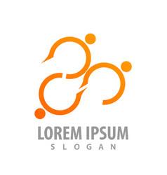 curve line people logo concept design symbol vector image