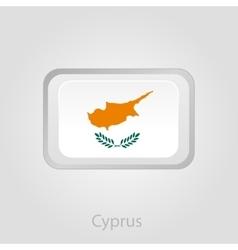 Cyprus flag button vector