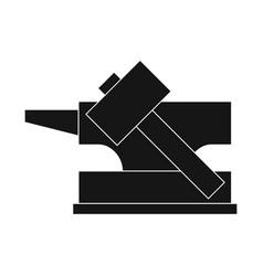 Design hammer and hephaestus symbol vector