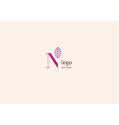 Development of creative logo typography letter n vector