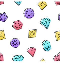 diamonds jewelry - colorful flat design style vector image