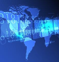 Digital world concept background vector