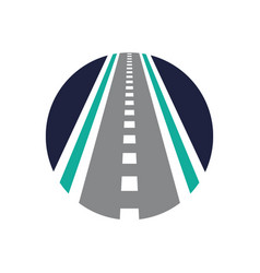 Direction logo combination street vector