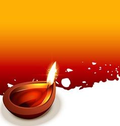 Diwali diya design vector