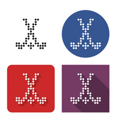 dotted icon field hockey in four variants with vector image