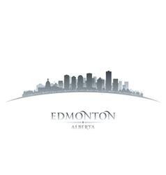 Edmonton Alberta Canada city skyline silhouette vector