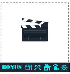 Film flap icon flat vector