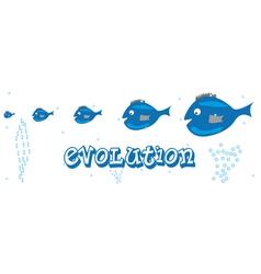 Fish evolution vector image