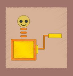 Flat shading style icon kids box vector