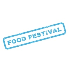 Food Festival Rubber Stamp vector image