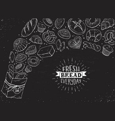 fresh bread poster ilustration vector image