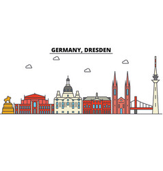 germany dresden city skyline architecture vector image