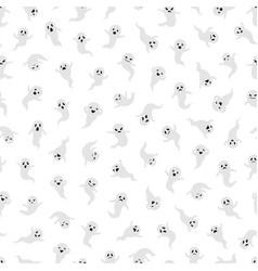 Ghost seamless pattern halloween ghosts vector