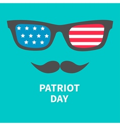 Glasses and mustaches patriot day vector