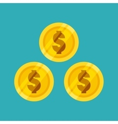 Gold coins icon vector