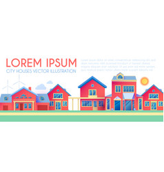 house exterior town landscape houses along the vector image