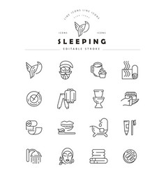 icon and logo for sleeping editable vector image