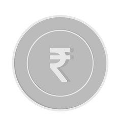 Indian rupee coin isolated on white background in vector