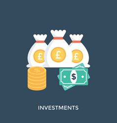 Investments vector
