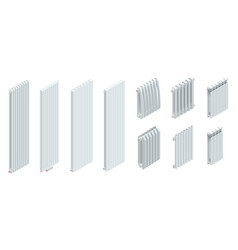 isometric modern heating radiators isolated on vector image