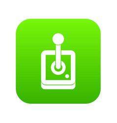 joystick for computer games icon digital green vector image