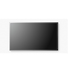 Lcd tv screen isolated transparent background vector