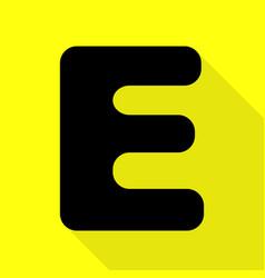 letter e sign design template element black icon vector image