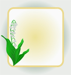 Lily of the valley spring flower background frame vector