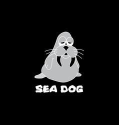 little sea dog image vector image