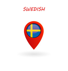 location icon for swedish flag eps file vector image