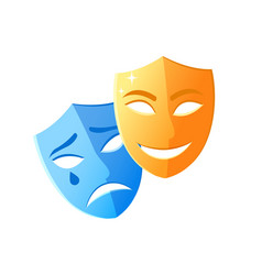 Masks smiling and crying feeling icons vector