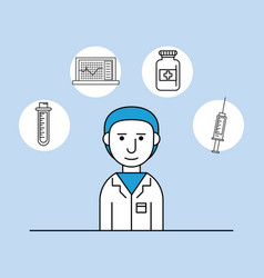 medical research man vector image