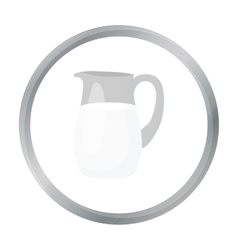 Milk jug icon cartoon Single bio eco organic vector image