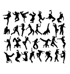 Modern dancer vector