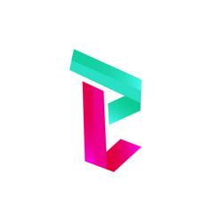 modern initial letter e vector image