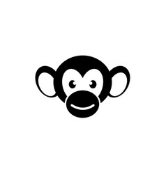 monkey face flat icon vector image