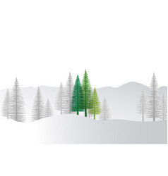 natural background with christmas tree vector image