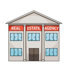 office real estate agencyrealtor single icon in vector image
