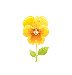 pansies flower floral icon realistic cartoon vector image