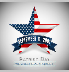 patriot day usa with star in national flag vector image