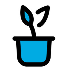 Plant pot icon outline style vector